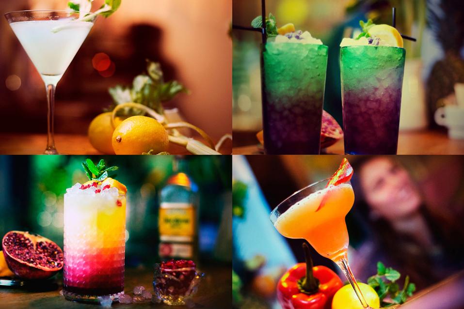 Los coloristas y especiales cócteles que Marto Martillos prepara en Anticafé
