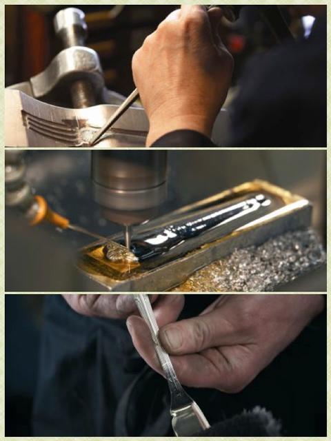 Fabricación manual de la cubertería