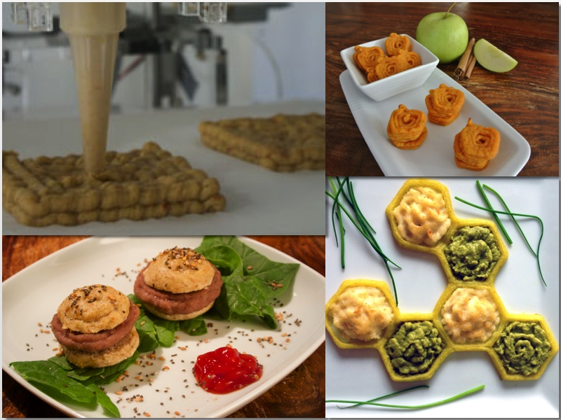 Diferentes platos creados con Foodini