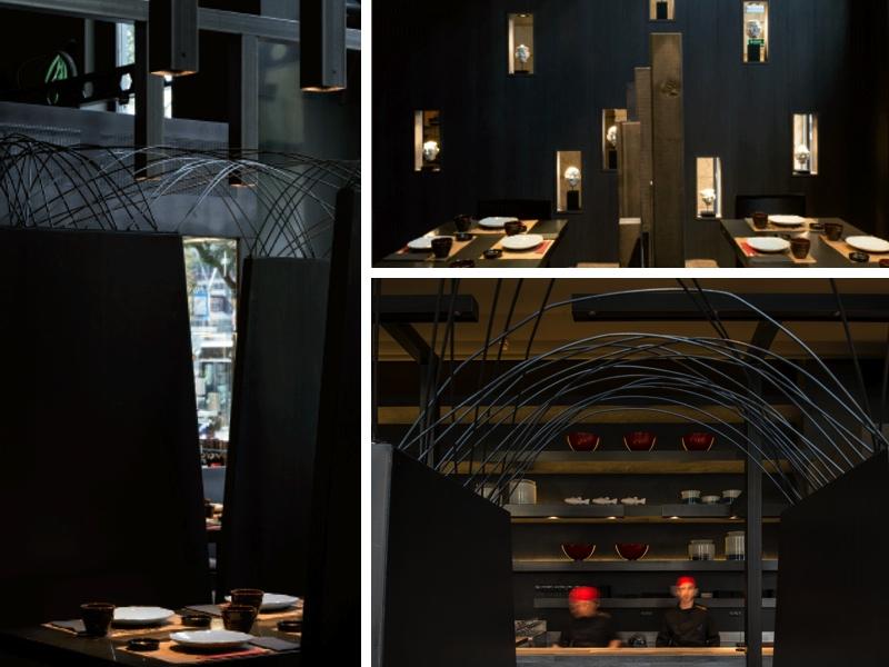El restaurante cuenta con espacios semirreservados, perfectamente integrados en un único conjunto
