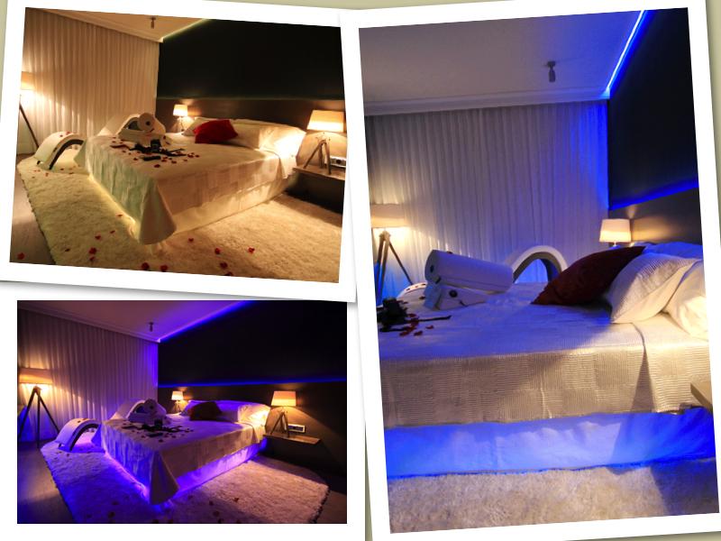 La suite romántica del hotel Abba Garden de Esplugues