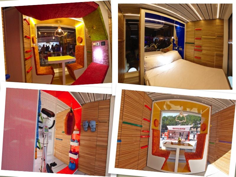 Teresa Sapey es la creadora de este completo mini hotel de 15 m2