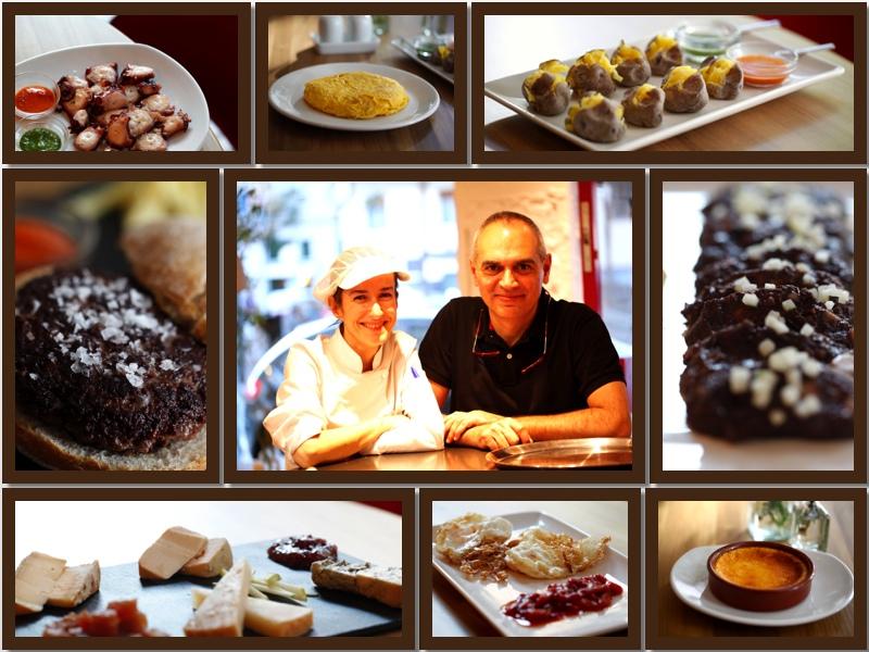 Carmen Carro y Santoago Pedraza, rodeados de algunos de sus platos