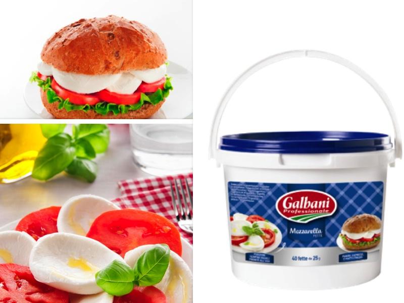 Lonchas de mozzarella Galbani
