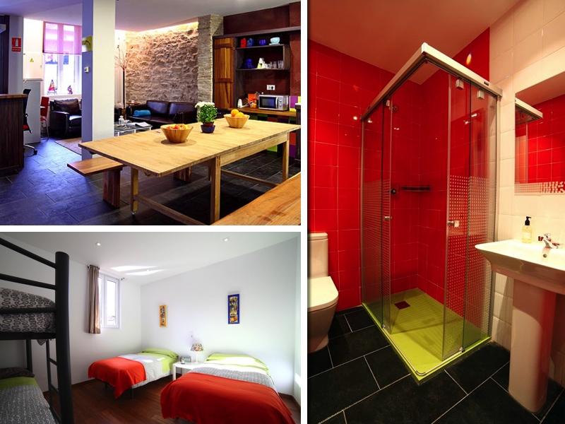 La cocina office, uno de los baños y habitación familiar