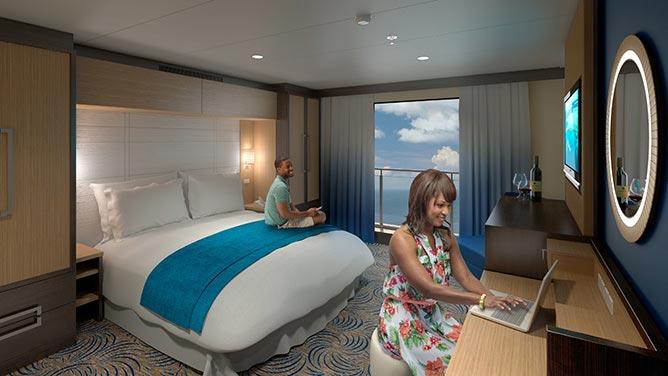 Los balcones virtuales ofrecerán imágenes en tiempo real del exterior, incluso del fondo del mar.