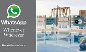 Whenever Wherever es el servicio vía WhatsApp que ofrece Barceló a sus clientes.