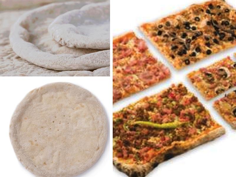 Las bases de pizza fresca se ofrecen en diferentes tamaños y formatos
