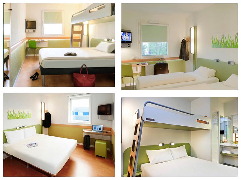Ibis Budget ofrece diferentes modelos de habitaciones dobles y triples