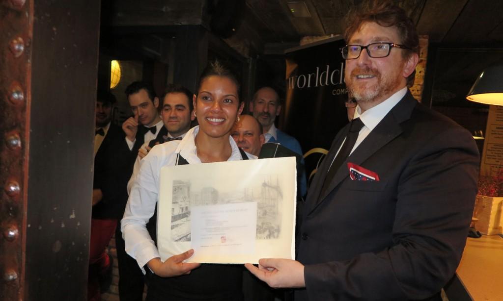 Cristine Do Nascimento, de Taberna La Solía, vencedora de la semifinal de la zona norte