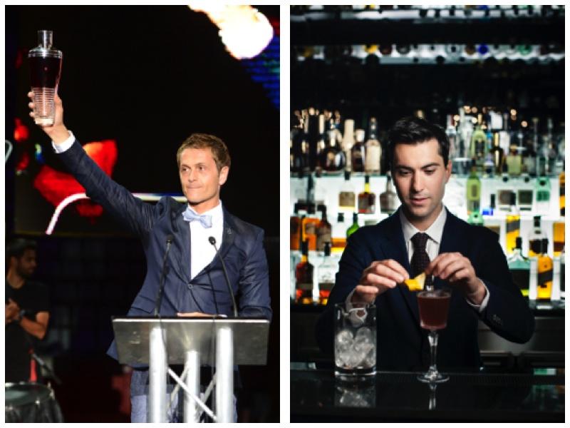 Dos vencedores españoles en la World Class: David Ríos (izda.), Mejor Bartender del Mundo en la World Class 2013, y Giacomo Gianetti, Mejor Bartender de España 2014