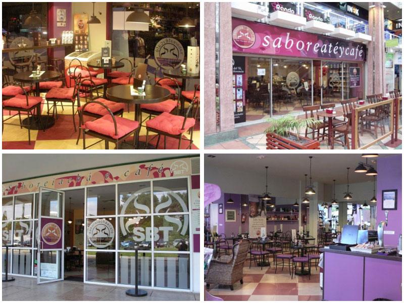 Diferentes locales de Saboreaté y Café