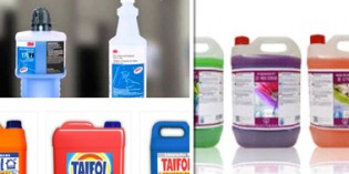 Limpiadores de cristales y suelos, quitagrasas y detergentes