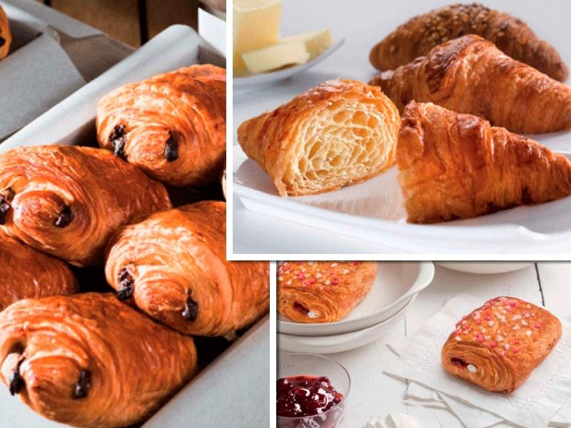 Bollería de mantequilla al estilo francés
