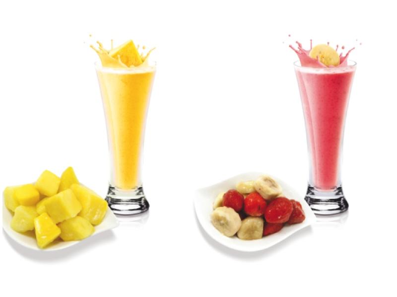 Frutas en trozos, para smoothies