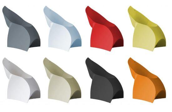 Las sillas Flux se ofrecen en una amplia gama de colores