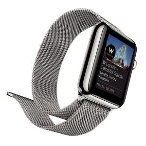 Un Appl Watch, como reloj y cronómetro