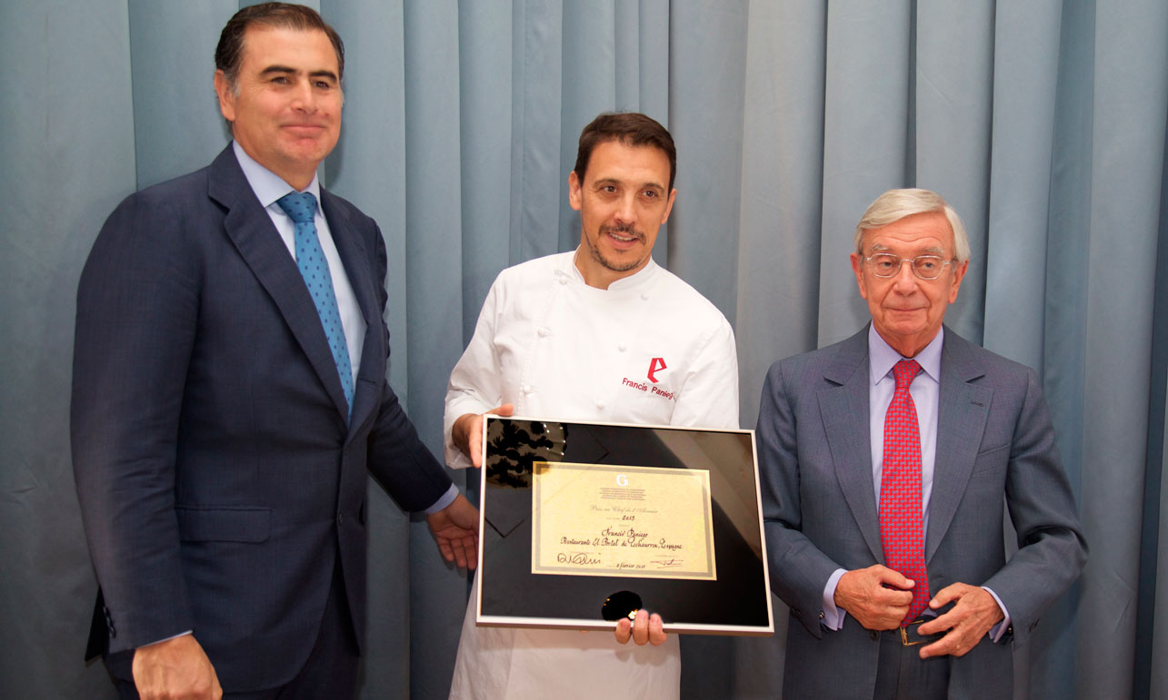 Alejandro Aznar, Francis Paniego y Rafael Ansón