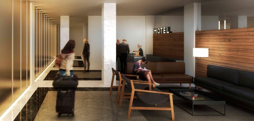 Lobby del Dear Hotel (Madrid)