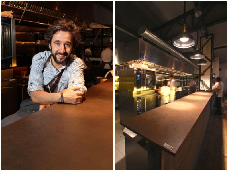 Diego Guerrero en su restaurante DStage