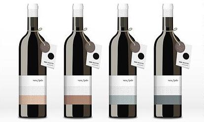 Botellas del tinto joven Vara/palo