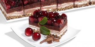 Plancha de cereza y choco-crisp: pastelería versátil
