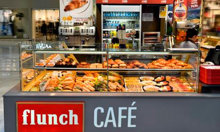 Un Flunch Café en formato kiosco, en un centro comercial