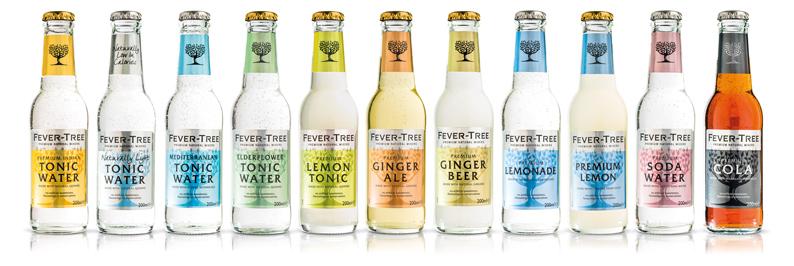 La gama de mixers de Fever-Tree