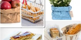 Bolsas de papel y otros soportes originales para servir el pan