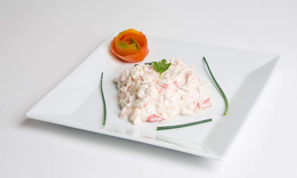 La ensalada de cangrejo de Dealba que se sirve en Salamanca Suite Studios