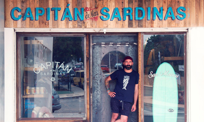 Carlos Quero y su tienda Capitán de las Sardinas