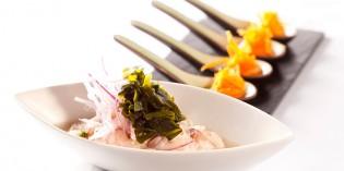 Ceviche de corvina con puré de boniato: receta de Mario Céspedes