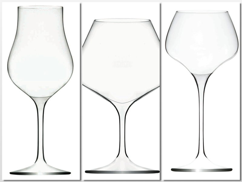 Copas de la línea Specialités, para destilados