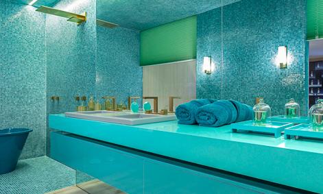 El nuevo tono verde turquesa de Silestone es perfecto para baños y cocinas