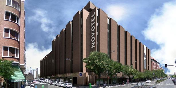 La fachada del Novotel Madrid Center, de próxima apertura