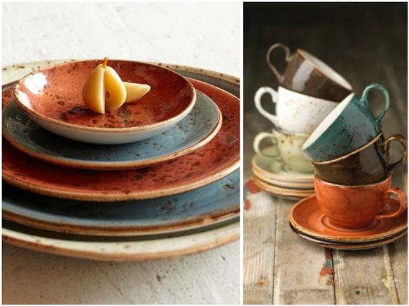 Platos y tazas de la vajilla Craft de Steelite