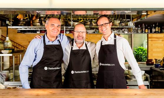 Antonio Fernández, Jesús Alonso y Pablo Pastega, al frente de la nueva Restaurantes.com