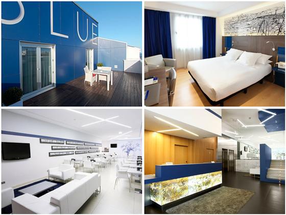 Las modernas instalaciones que luce hoy el hotel Blue