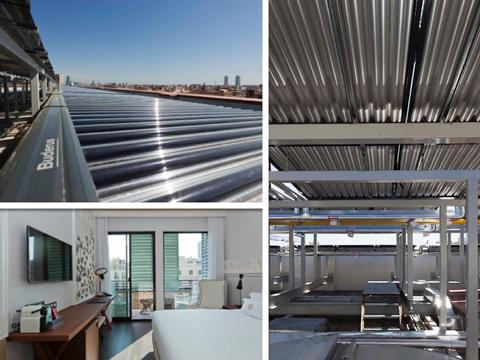 Instalación de energía solar en el hotel Cotton