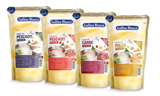 Caldos líquidos concentrados de Gallina Blanca Foodservice