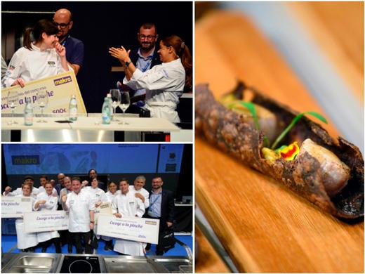 La ganadora con María Marte, la receta vencedora, y todos los finalistas junto a Martín Berasategui