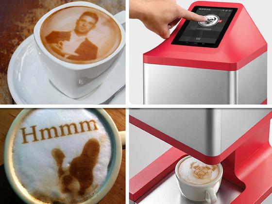 La impresora Ripples logra reproducir cualquier foto o imagen sobre el café