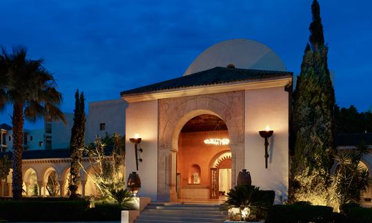 Fachada del complejo The Residence Tunis