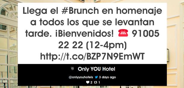 Pantalla de Yarr TV en el hotel Only You