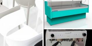 Visto en Host: máquinas de café inteligentes, vitrinas refrigeradas, sillas de diseño