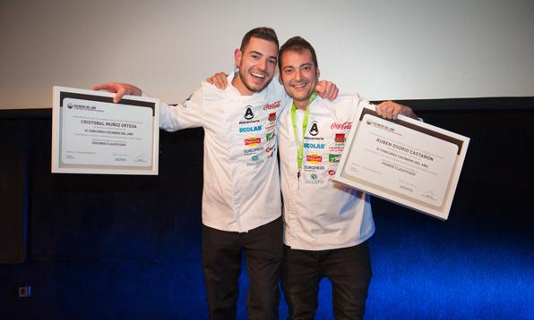 Los dos chefs ganadores: Critóbal Muñoz y Rubén Osorio
