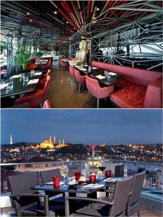 Interior y terraza de Saigón, en Estambul