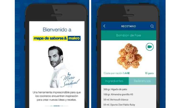 La app incluye recetas, combinaciones de sabores y escandallos, además de trucos de Mario Sandoval