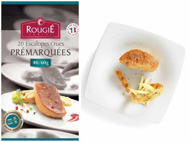 Escalopes de foie premarcado de Rougié