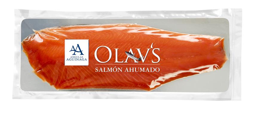 Plancha de salmón ahumado